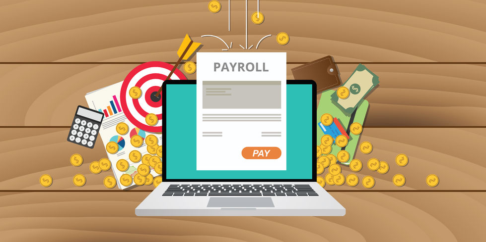 49557689 - payroll wages money salary calculator accounting
